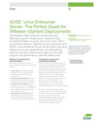 SUSE® Linux Enterprise Server: The Perfect Guest for VMware ...