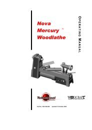 ADDITIONAL SAFETY RULES FOR WOODLATHES - Teknatool