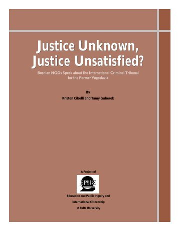 Justice Unknown, Justice Unsatisfied? - Human Rights Data ...