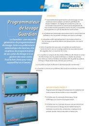 Programmateurs de lavage GUARDIAN - BouMatic