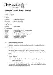 Planning and Transport Strategy Committee - Newcastle City Council