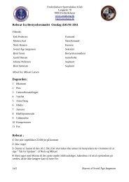 Referat fra Bestyrelsesmødet Onsdag d.05/01-2011 Dagsorden ...
