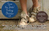 Save the Date! Friday, October 1st - Humility of Mary Housing