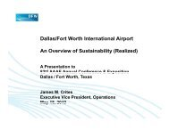 Dallas/Fort Worth International Airport An Overview of Sustainability ...