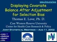 Displaying Covariate Balance After Adjustment for Selection Bias