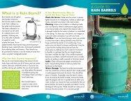 A GUIDE TO RAIN BARRELS What is a Rain Barrel? - Save The Rain