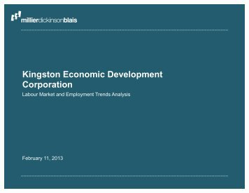 Labour Market and Employment Trends Analysis - KEDCO - Kingston