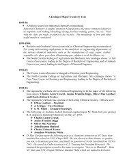 Chronology - Chemical & Biomolecular Engineering - North ...