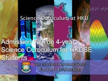 投影片 1 - Faculty of Science, HKU