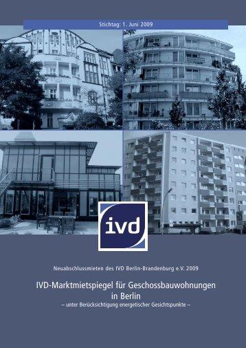 IVD-Marktmietspiegel für Geschossbauwohnungen in Berlin