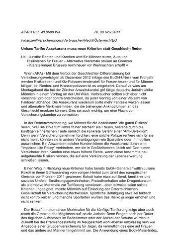 apa-artikel - Gesellschaft für Versicherungsfachwissen