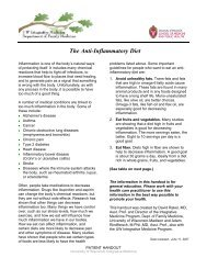 The Anti-Inflammatory Diet - UW Family Medicine - University of ...