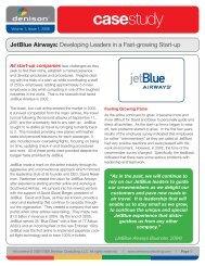JetBlue Airways - Denison Consulting