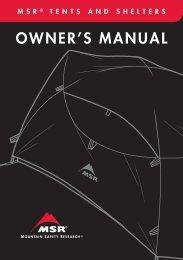 Owner's Manual - Cascade Designs, Inc.