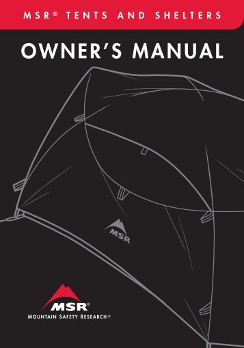 Owner's Manual - Cascade Designs, Inc.