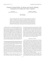Temporal Construal Effects on Abstract and Concrete Thinking ...