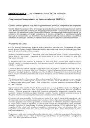 Geografia Fisica - Università degli Studi della Basilicata