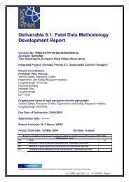 Fatal Data Methodology Development Report - ERSO - Swov