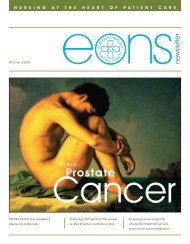 Prostate - the European Oncology Nursing Society