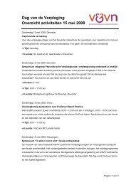 Dag van de Verpleging Overzicht activiteiten 15 mei 2008