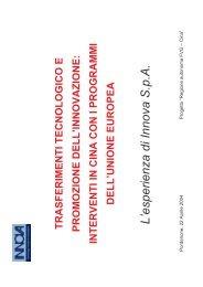 Trasferimenti tecnologici e promozione dell'innovazione_interventi ...