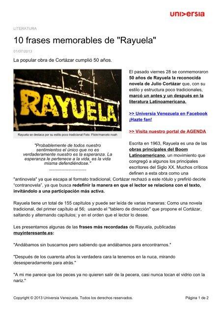 10 Frases Memorables De Rayuela Noticias Universia