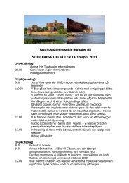 Tjust hushållningsgille inbjuder till STUDIERESA TILL POLEN 14-18 ...