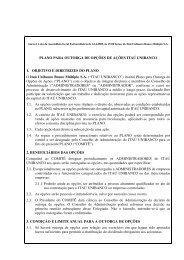 Anexo I à ata da Assembleia Geral Extraordinária de ... - Banco Itaú