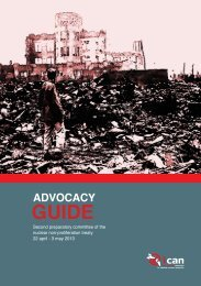 advocacy guide - International Campaign to Abolish Nuclear Weapons