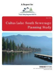Cultus Lake South Sewerage Planning Study - Fraser Valley ...