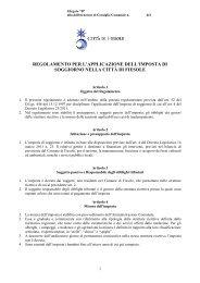 Regolamento per l'applicazione dell'imposta di soggiorno