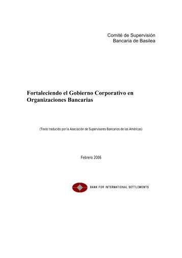 Fortaleciendo el Gobierno Corporativo en Organizaciones Bancarias