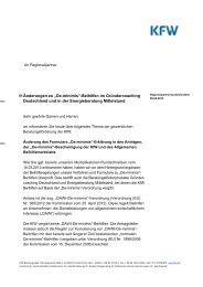 KfW Rundschreiben an Regionalpartner vom 28/05/2013