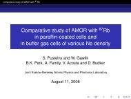 Comparative study of AMOR with 87Rb in paraffin-coated cells and ...