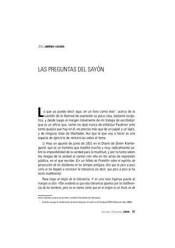 LAS PREGUNTAS DEL SAYÓN - FAES