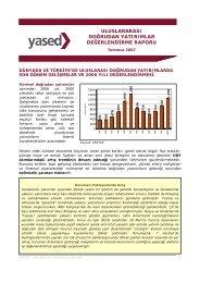 uluslararası doğrudan yatırımlar değerlendirme raporu - YASED ...