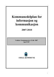 Informasjons- og kommunikasjonsplan 2007-2010 - Fjell kommune