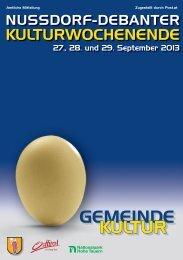 Kulturwochenende Folder2013 - Dolomitenstadt.at