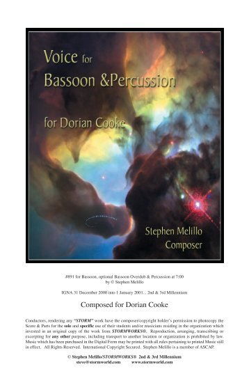 Voice for Bassoon & Percussion - STORMWORLD