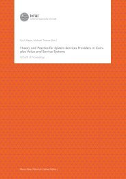Theory and Practice for System Services ... - Qucosa - Leipzig