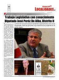 Trabajo Legislativo con conocimiento Diputado José Peréz De Alba ...