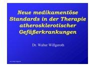 Neue medikamentöse Standards in der Therapie ... - Ww-kardio-do.de