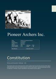 Constitution Pioneer Archers Inc.