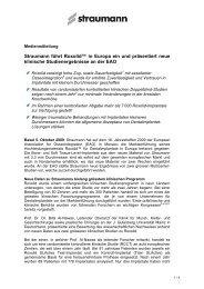 Straumann führt Roxolid™ in Europa ein und präsentiert neue ...
