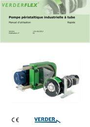 Pompe péristaltique industrielle à tube - Verderflex