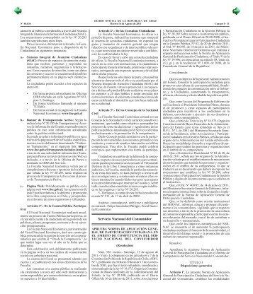 Diario Oficial de la República de Chile - Sernac