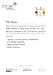 Oster Package: - Romantik Seehotel Sonne Küsnacht