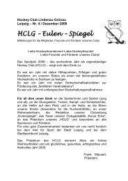 Eulen-Spiegel_2008 Nr. 4 Dezember - HCLG Leipzig eV