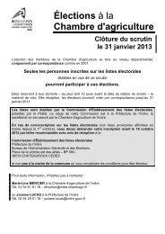 modalites organisation elections 2013 - Chambre d'agriculture de l ...