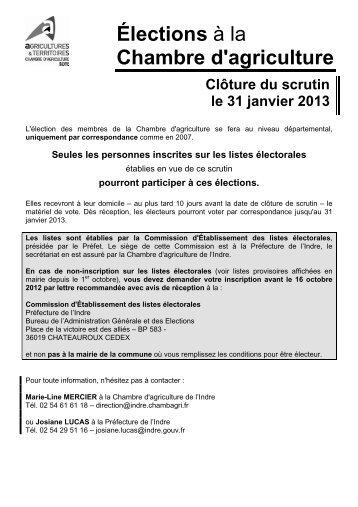 Election des membres de la chambre d 39 agriculture pr fecture - Chambre d agriculture moselle ...